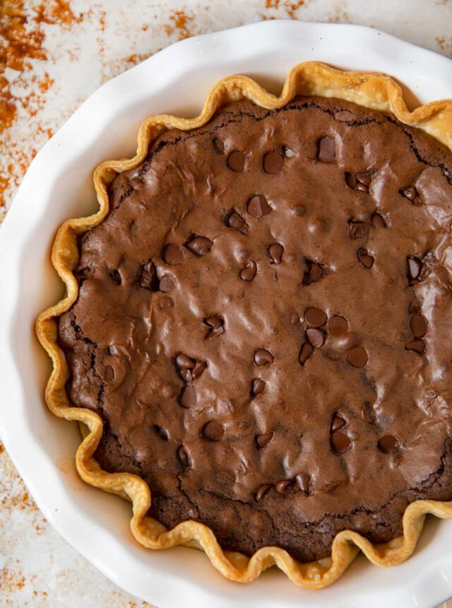 Whole Brownie Pie