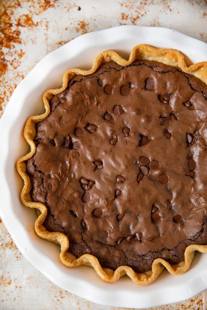 Whole Brownie Pie