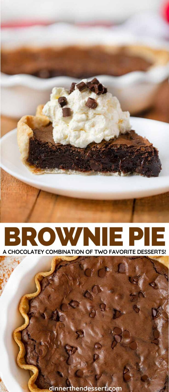 Chocolate Brownie Pie collage