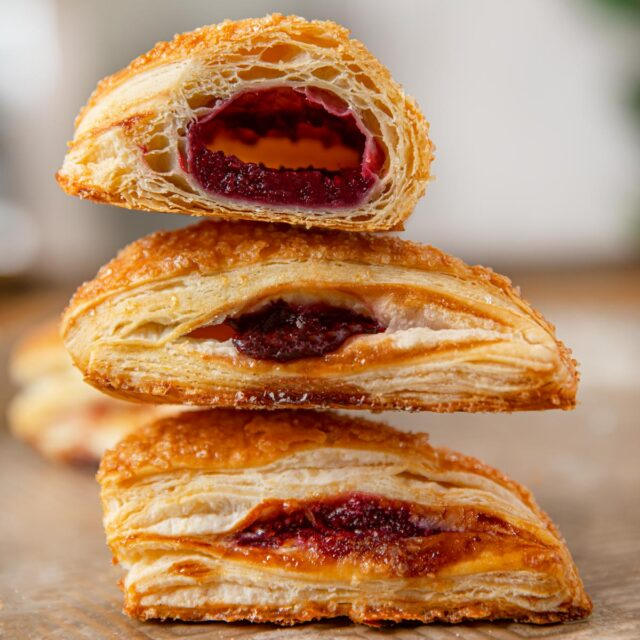 Cherry Turnovers in a stack
