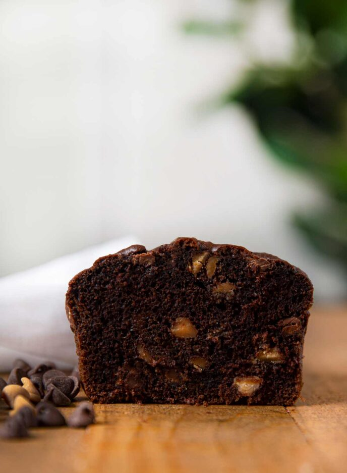 Peanut Butter Chocolate Chip Bread slice