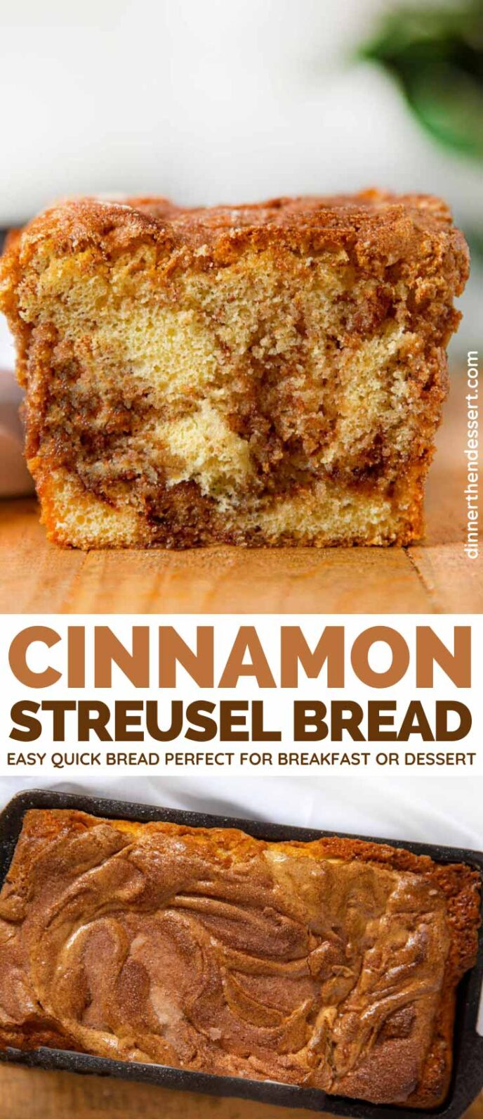 Cinnamon Streusel Bread collage