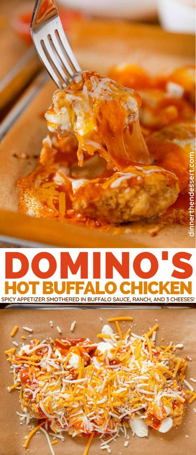 Domino's Hot Buffalo Chicken (Copycat) collage