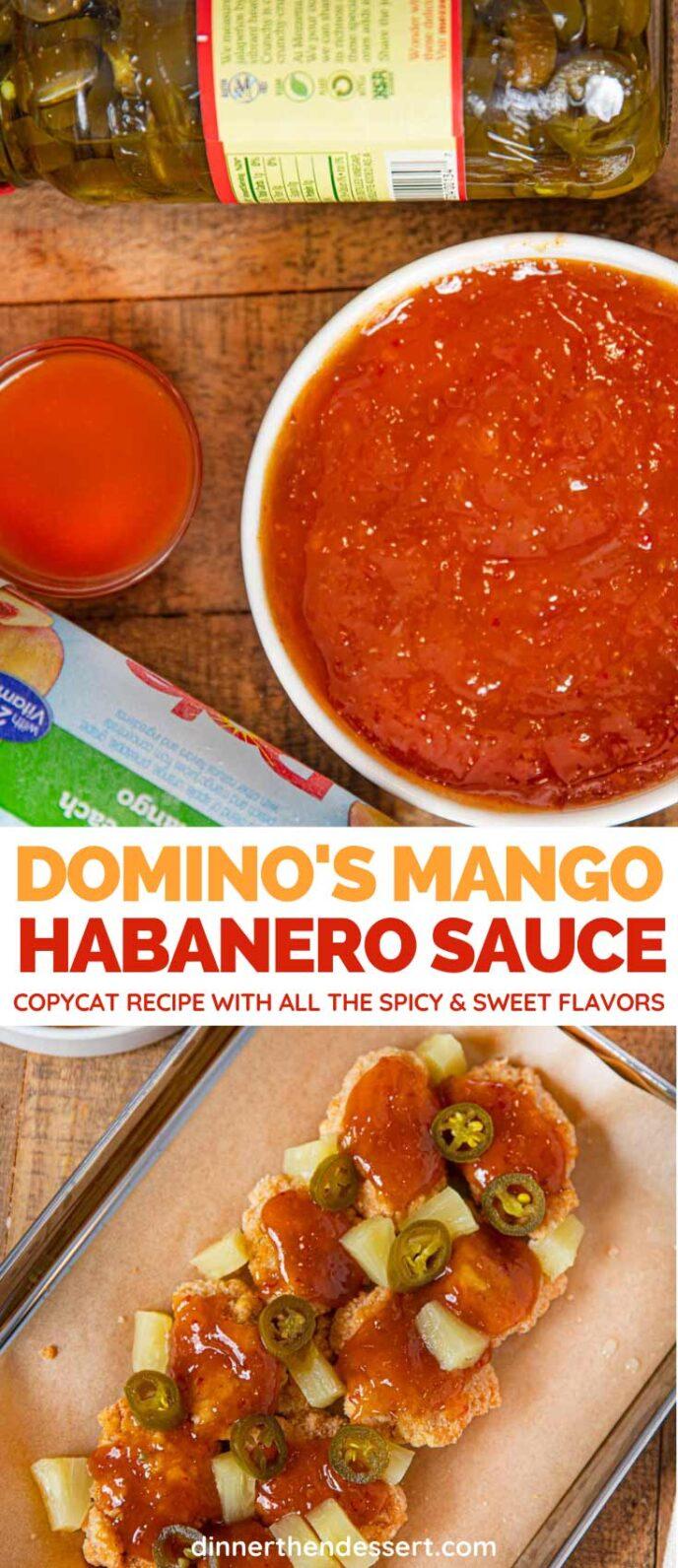 Domino's Mango Habanero Sauce (copycat) collage