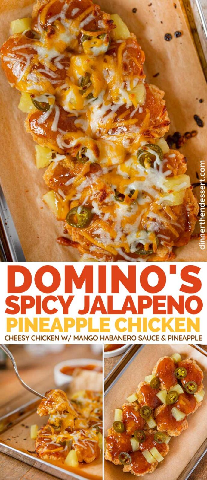 Domino's Spicy Jalapeno Pineapple Chicken (Copycat) collage