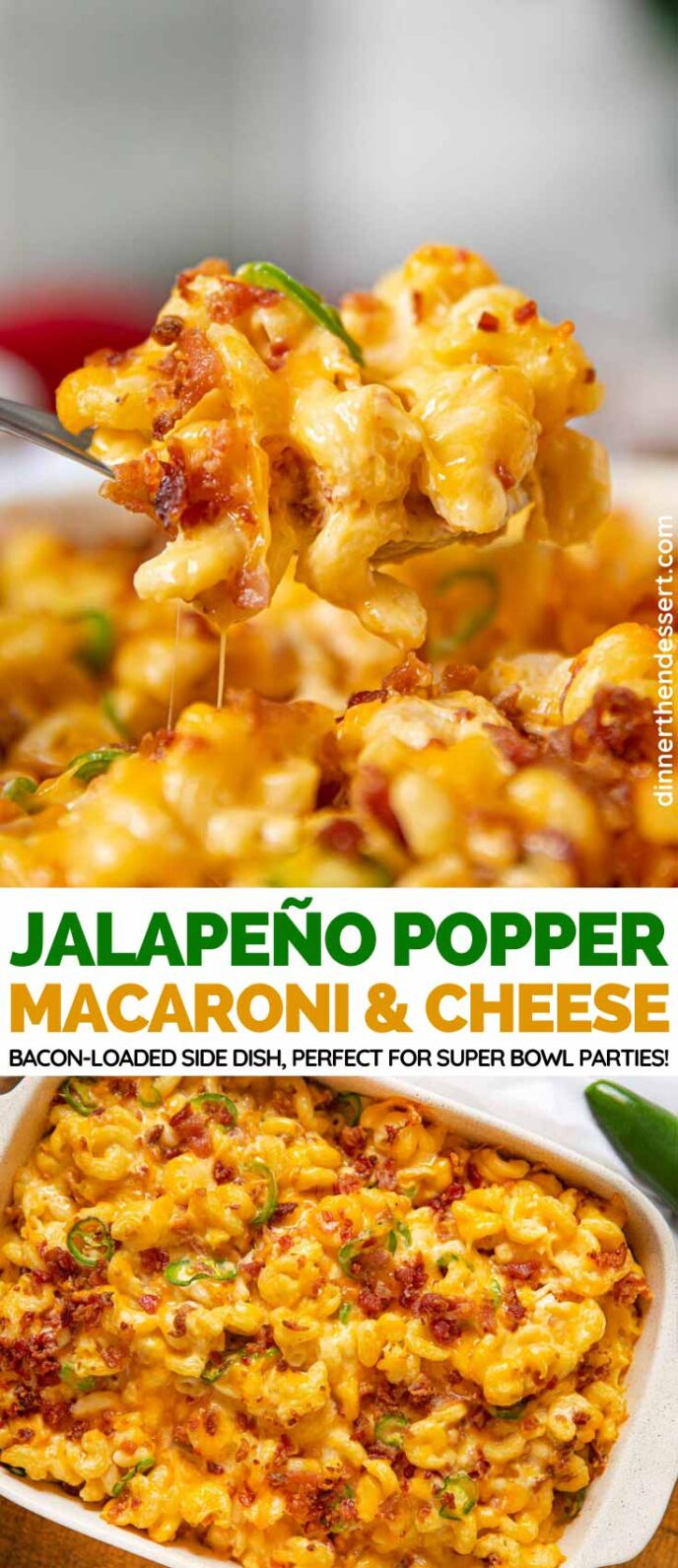 Jalapeno Popper Mac and Cheese collage
