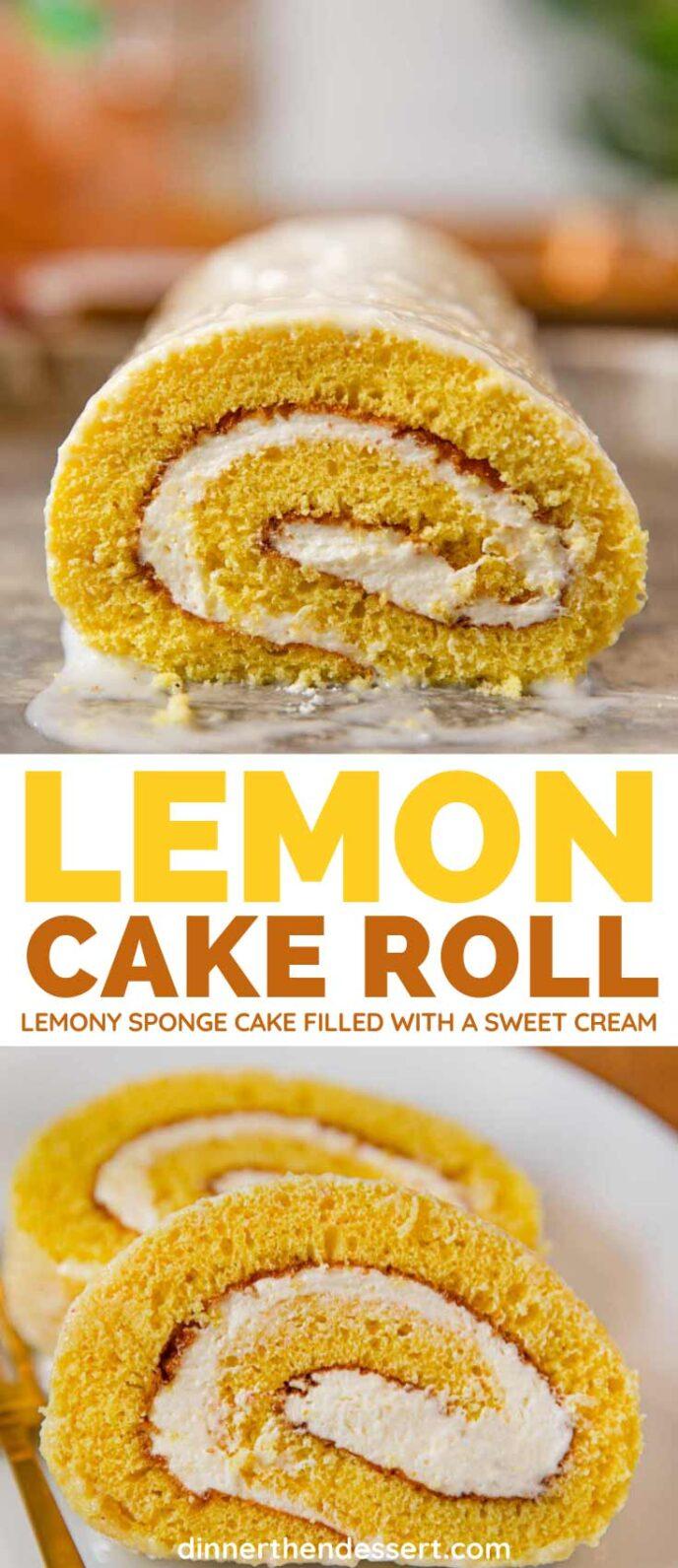 Lemon Cake Roll collage