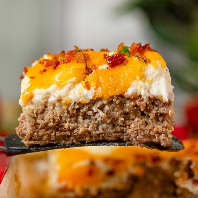 Meatloaf Casserole with Loaded Mashed Potatoes