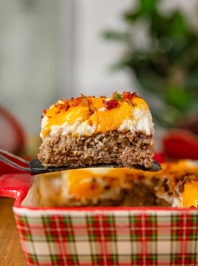 Slice of Meatloaf Casserole
