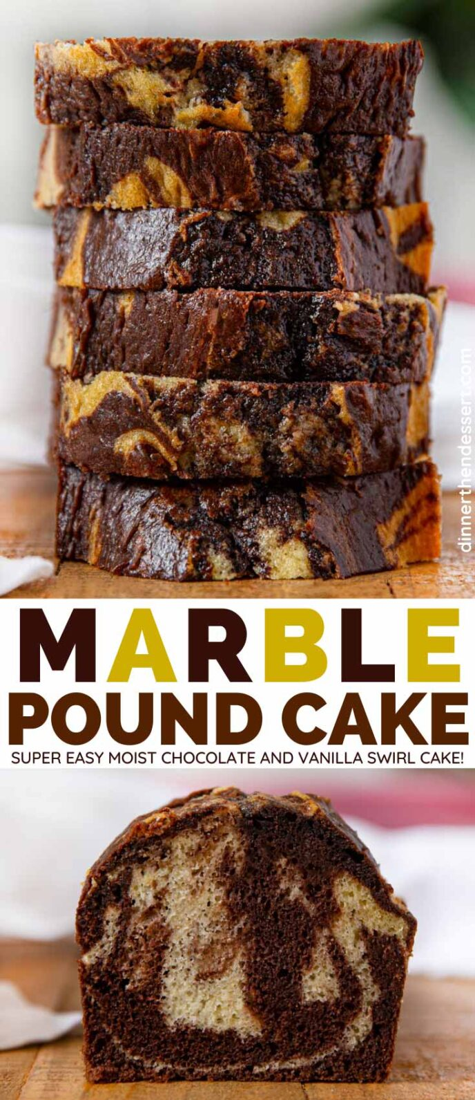 Marble Pound Cake collage