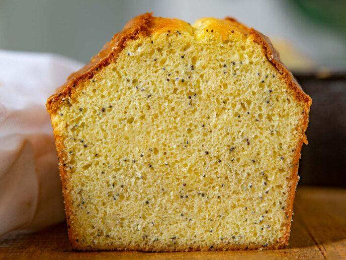 Poppy Seed Bread Slice