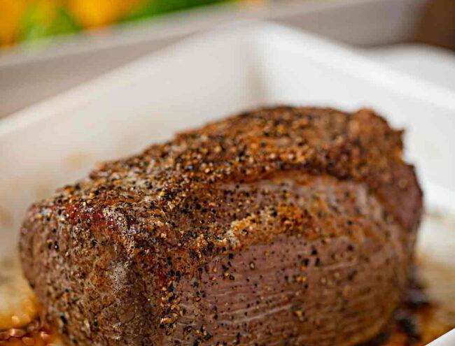 Pepper Crusted Roast Beef