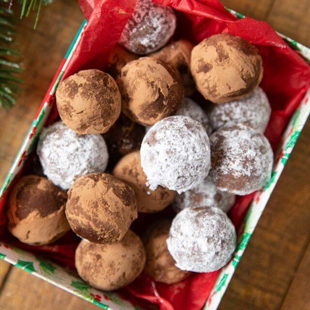 Rum Balls in gift box