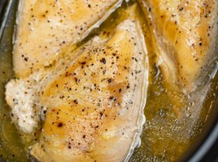 Slow Cooker Chicken Breast close up