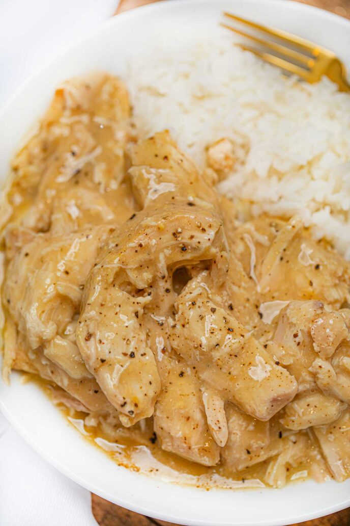 Crockpot Chicken Breasts with Chicken Gravy