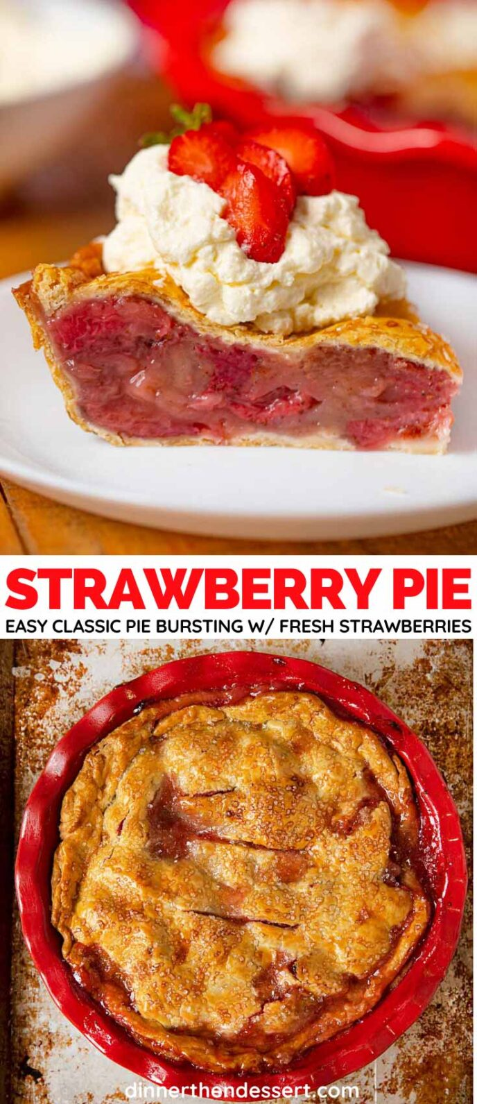 Baked Strawberry Pie Collage