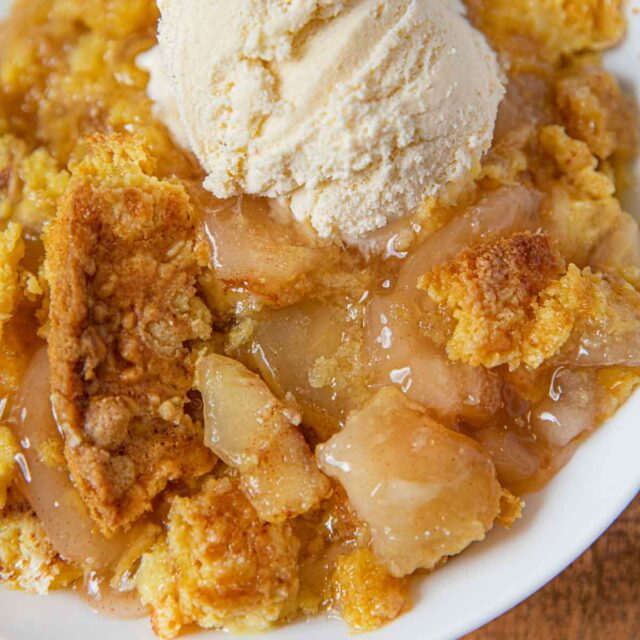 Baked Apple Crumble with ice cream