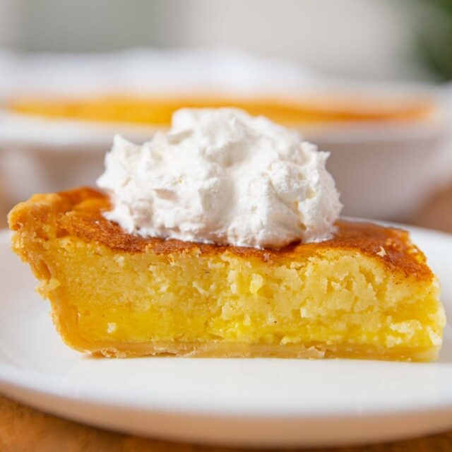 Buttermilk Pie slice on plate