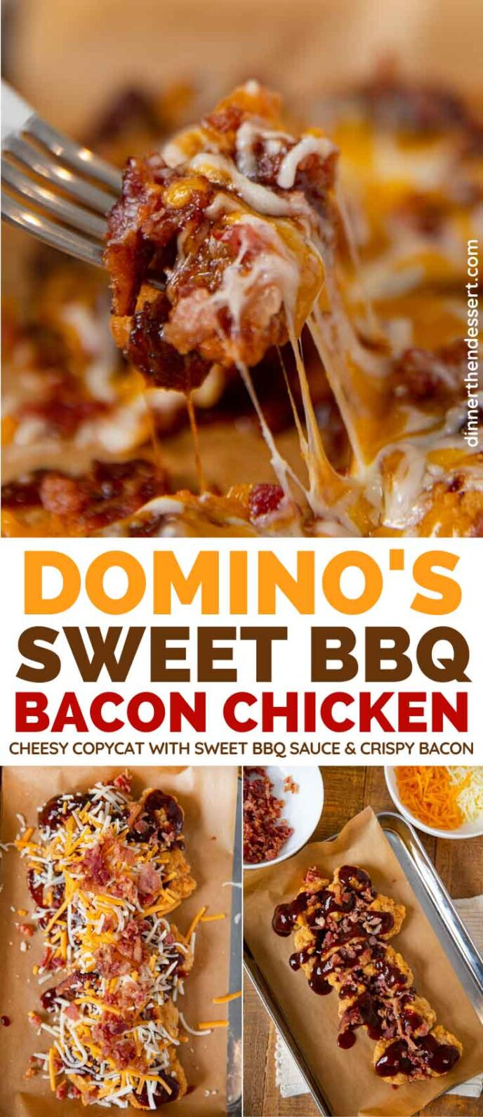 Domino's Sweet BBQ Bacon Chicken copycat collage