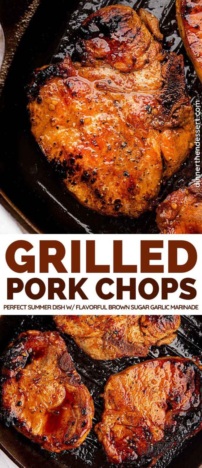 Grilled Pork Chops collage