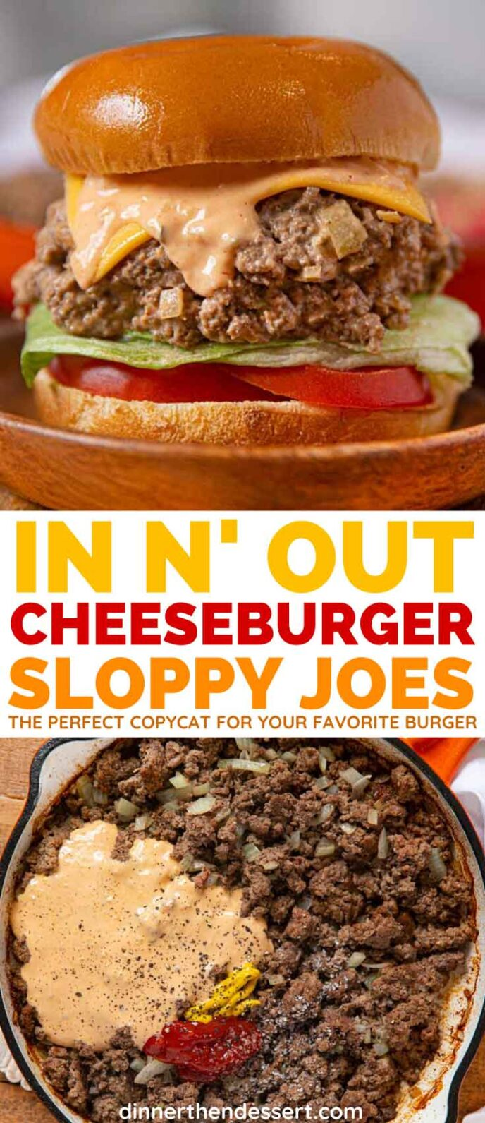 In-N-Out Cheeseburger Sloppy Joes collage