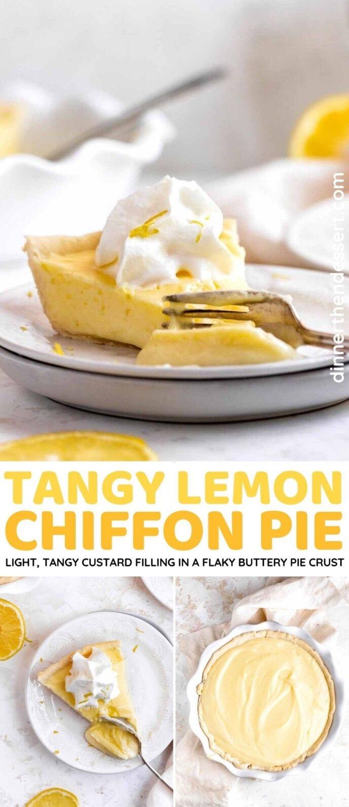Tangy Lemon Chiffon Pie collage