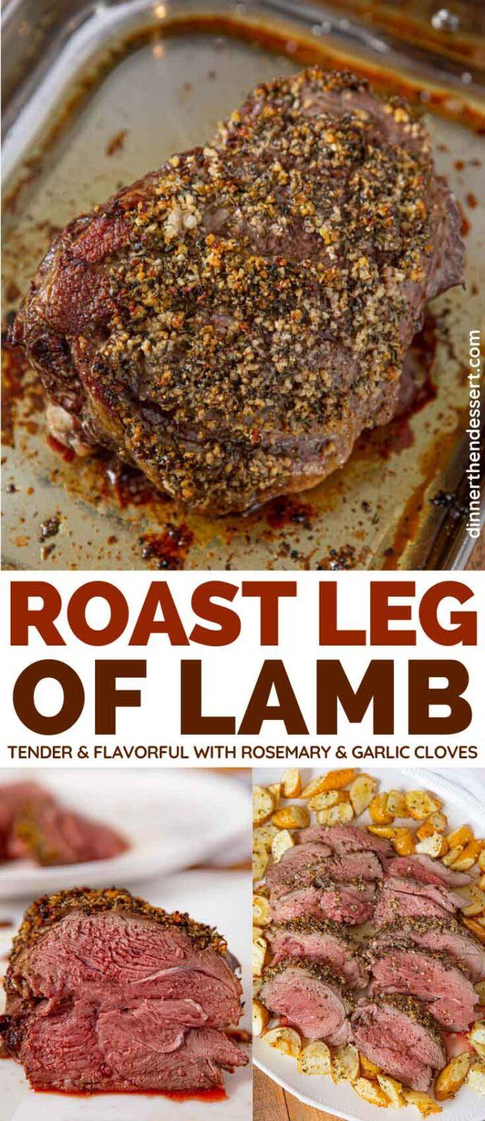 Roast Leg of Lamb collage