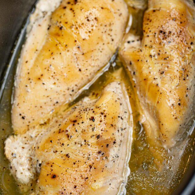 Slow Cooker Chicken Breast cooked in crock pot