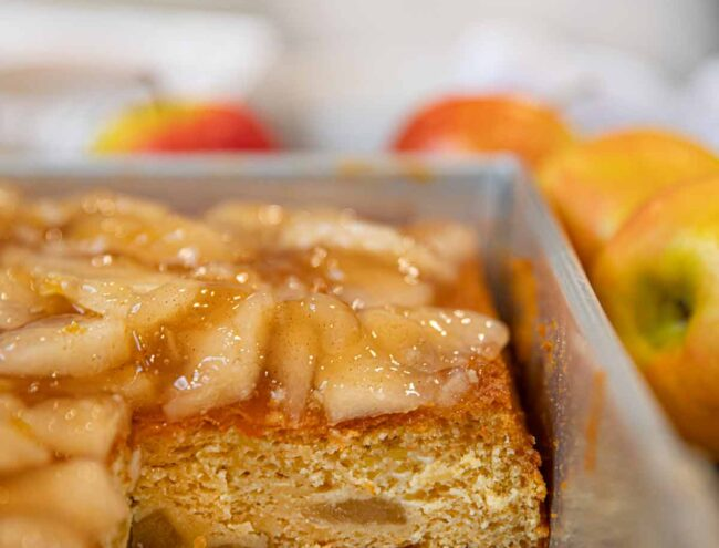Sheet Pan with Apple Cake