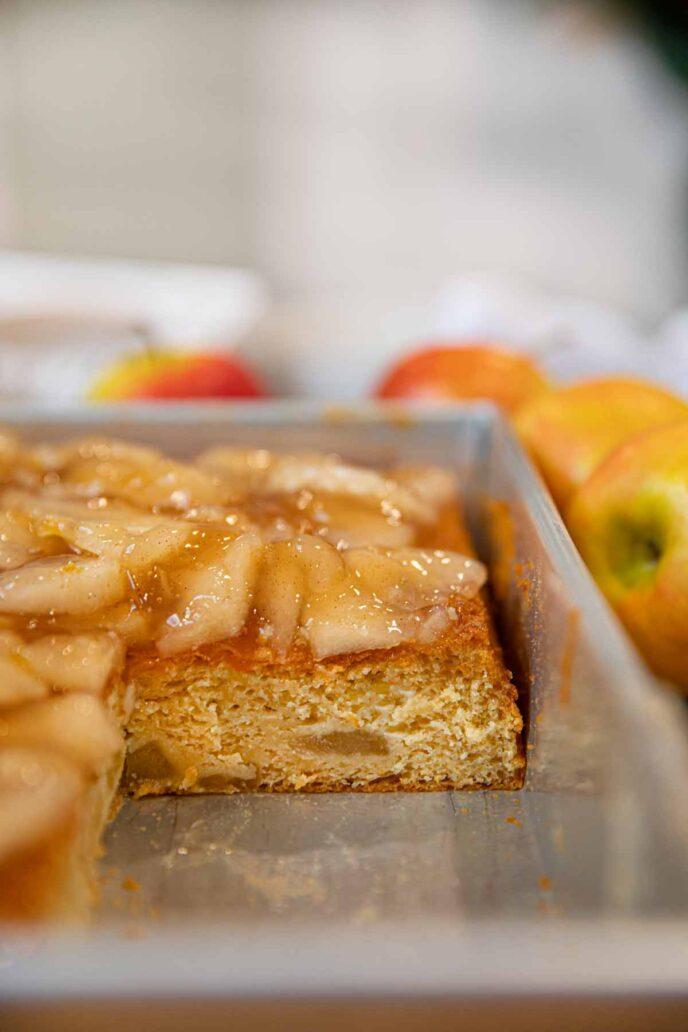 Sheet Pan with Apple Cake