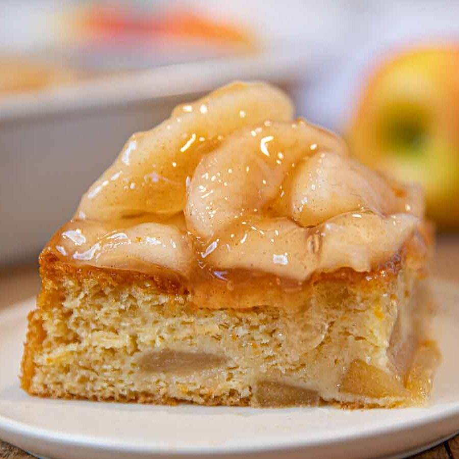 Slice of Apple Sheet Cake