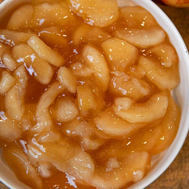 Apple Pie Filling top-down view