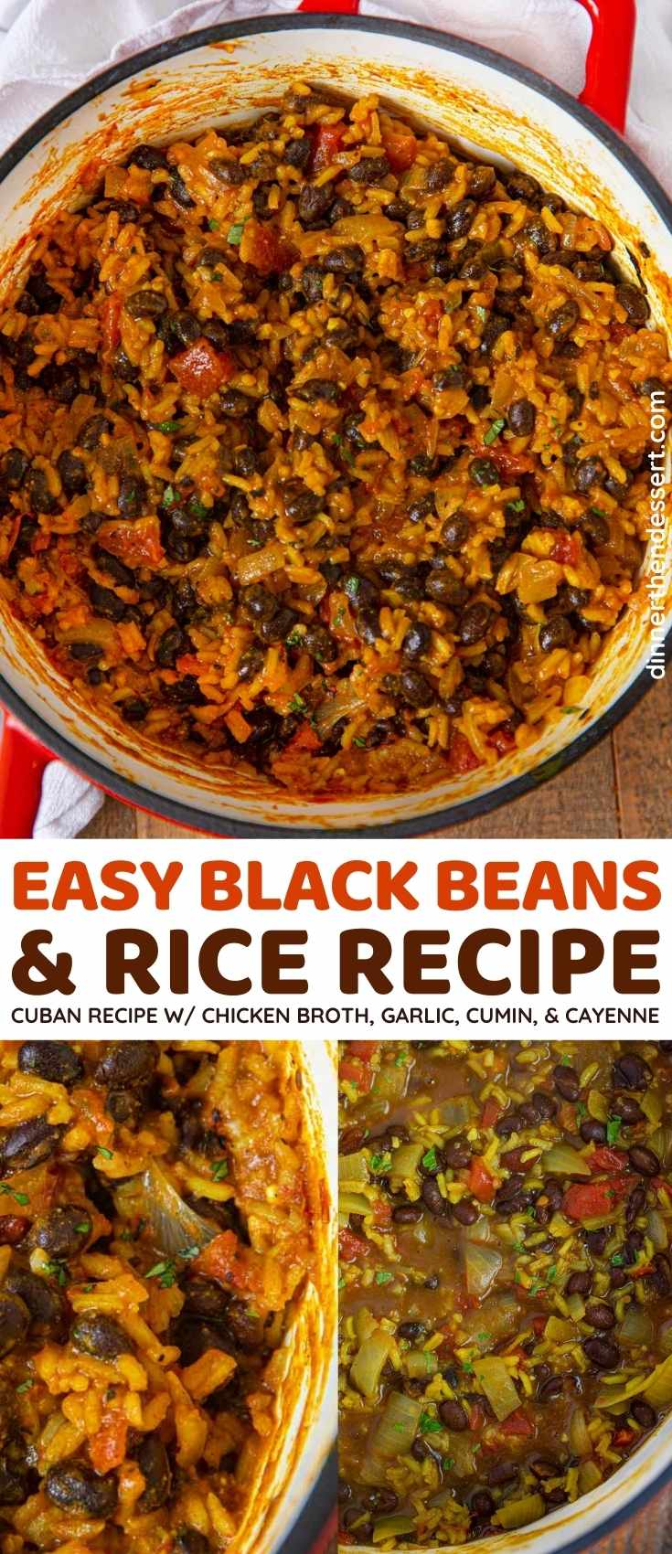 Black Beans and Rice collage