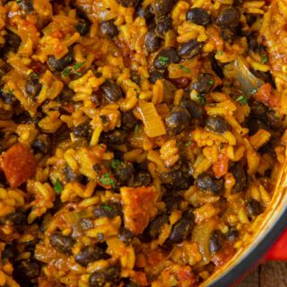 Black Beans and Rice close up