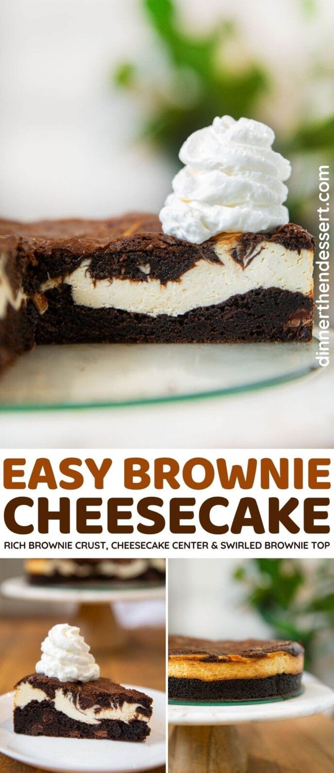Brownie Cheesecake collage