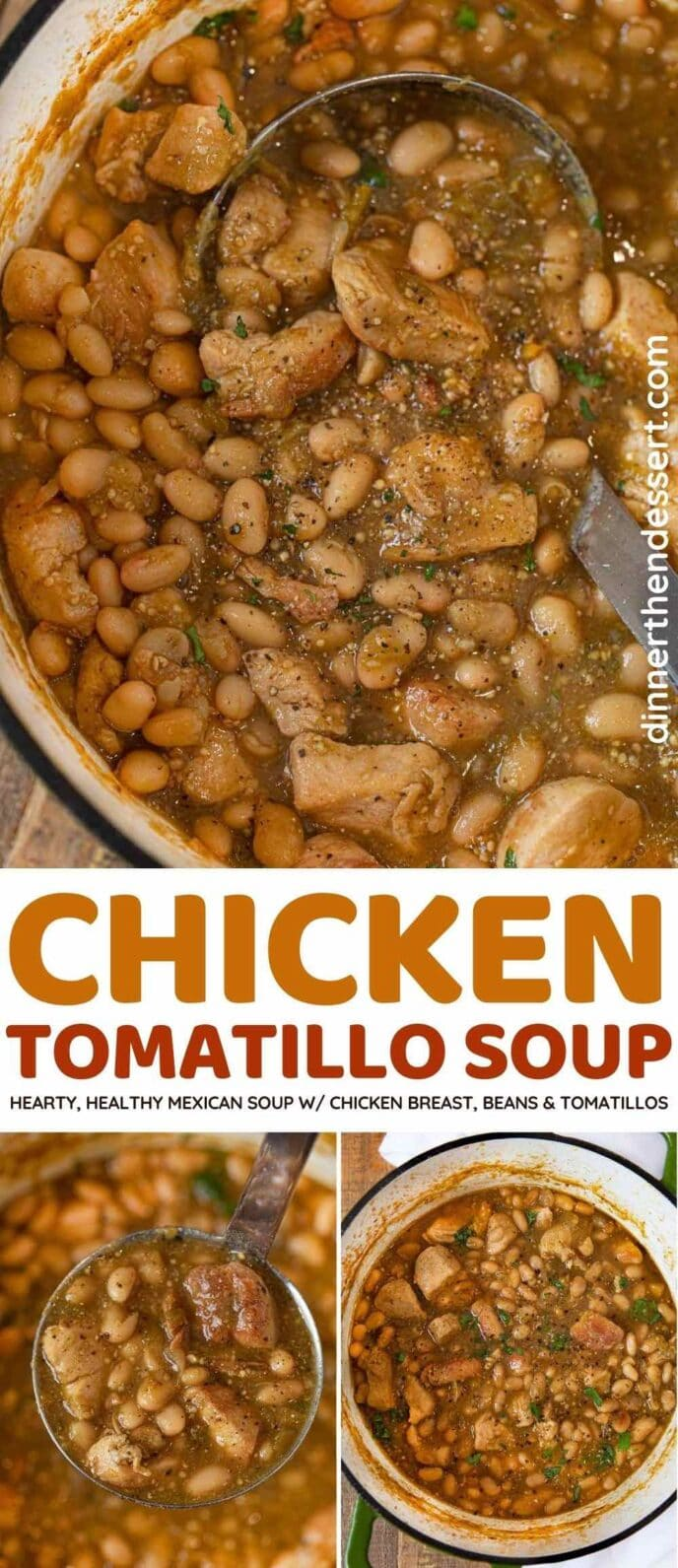 Chicken Tomatillo Soup collage