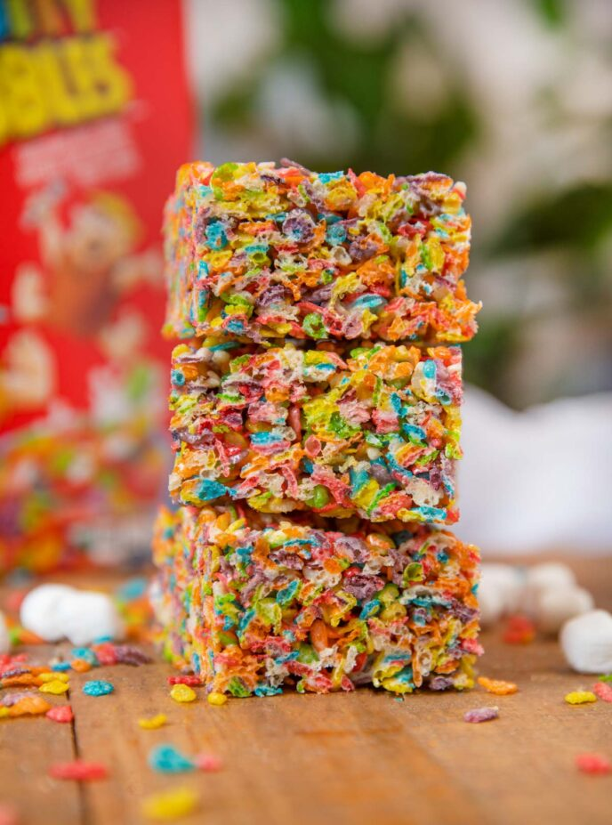 Fruity Pebbles Treats in stack
