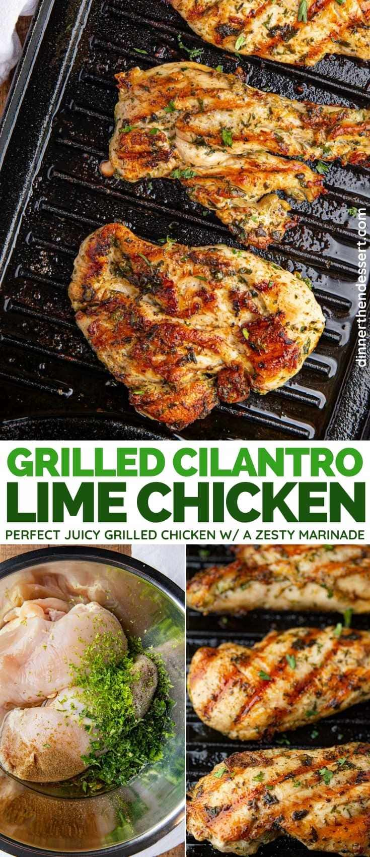 Grilled Cilantro Lime Chicken collage