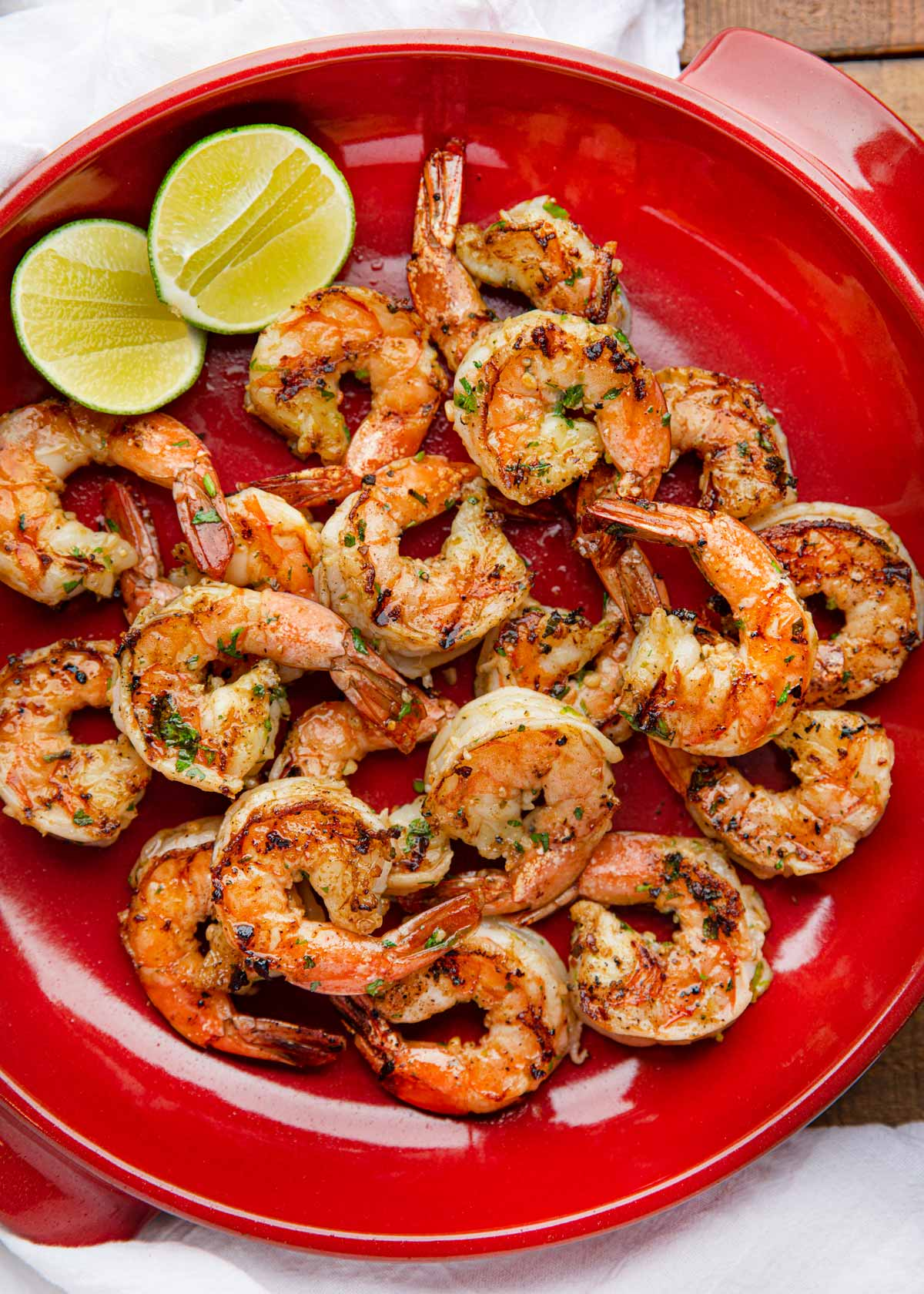 Cilantro Lime Grilled Shrimp on plate