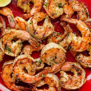 Grilled Cilantro Lime Shrimp on dish