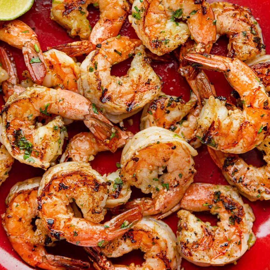 Grilled Cilantro Lime Shrimp on dish