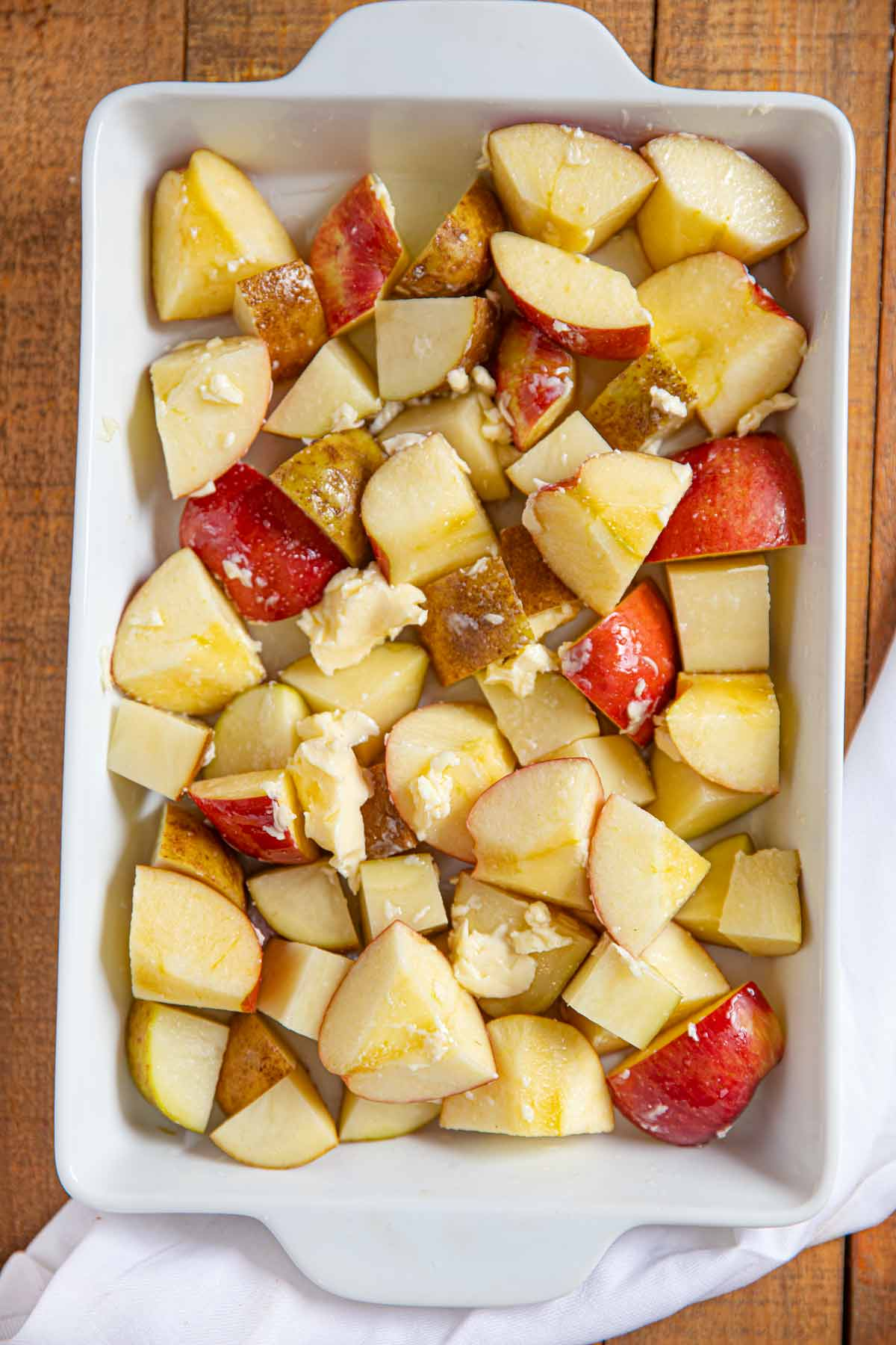 Honey Roasted Apples and Potatoes before cooking