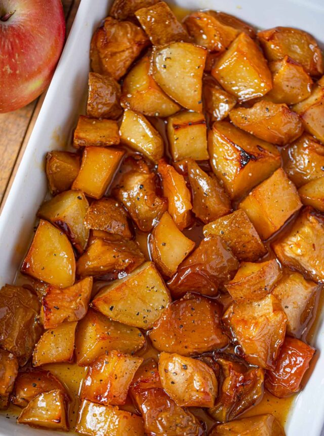 Honey Roasted Apples and Potatoes