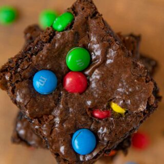 M&M Brownies top-down view
