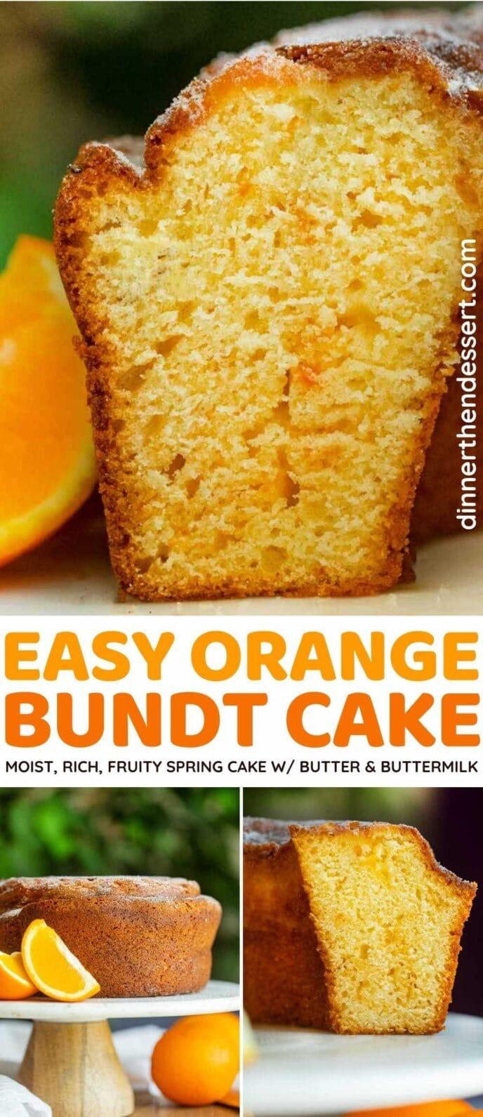 Tender Orange Bundt Cake
