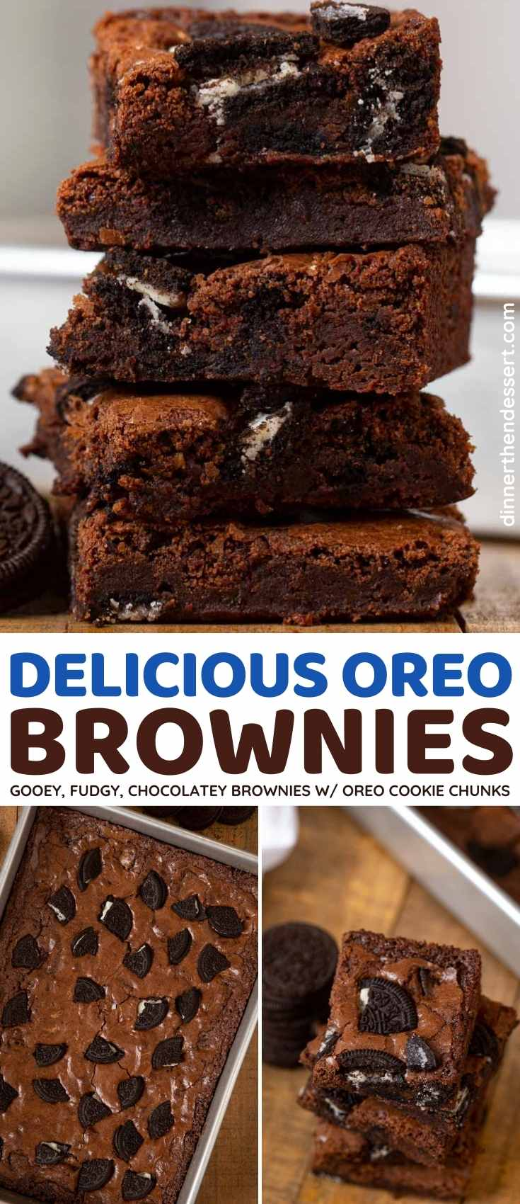 Oreo Brownies collage