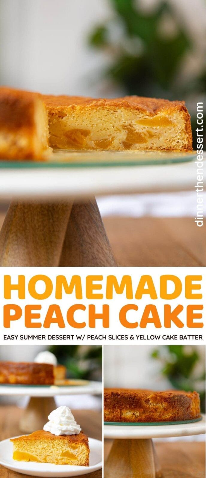 Peach Cake collage