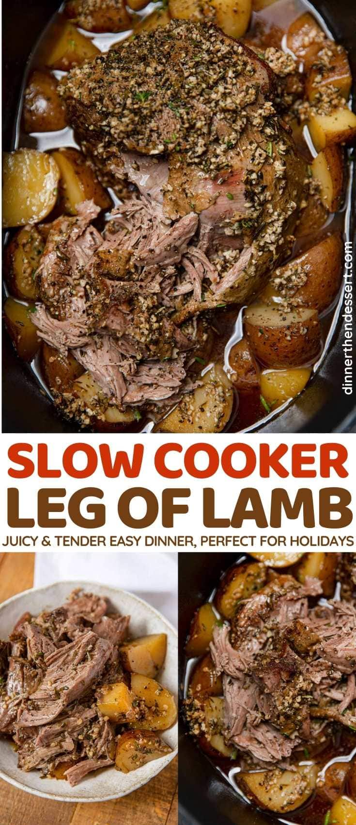 Slow Cooker Leg of Lamb collage