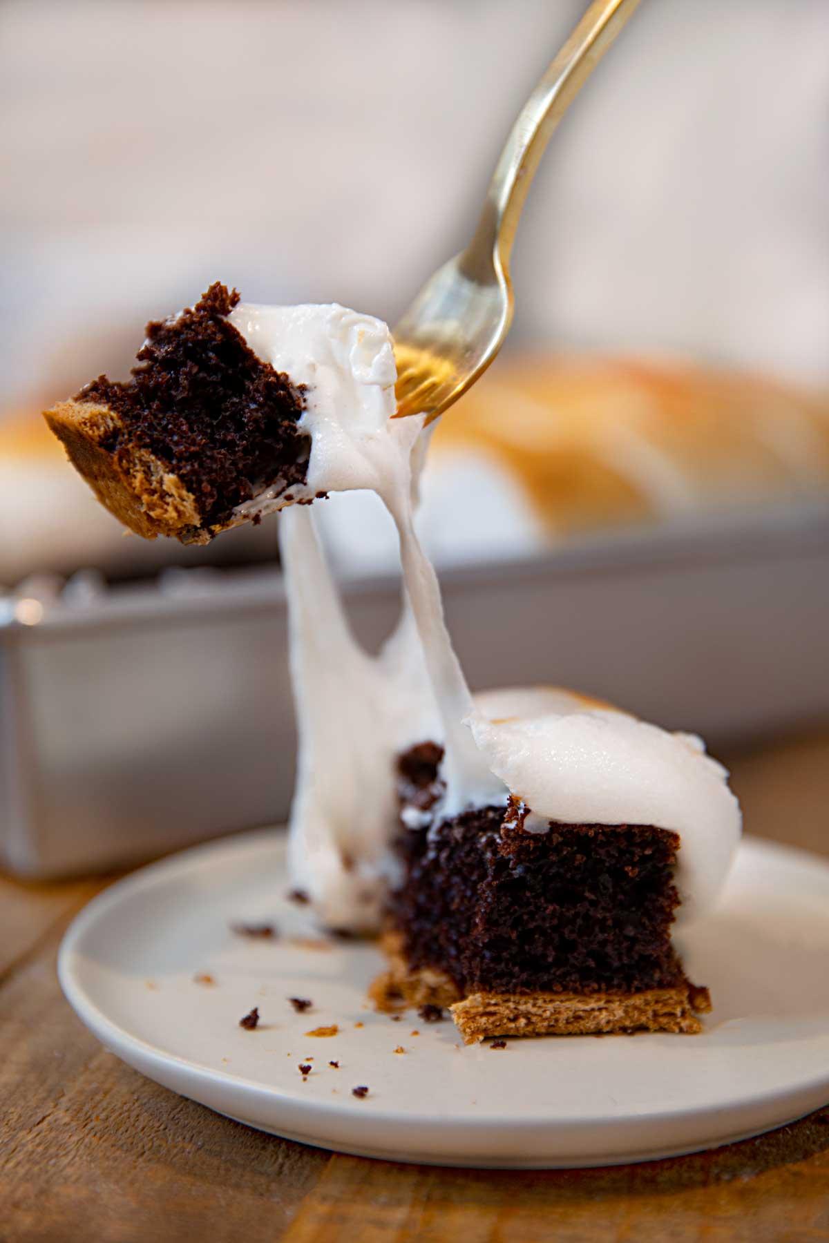 S Mores Sheet Cake Recipe Dinner Then Dessert