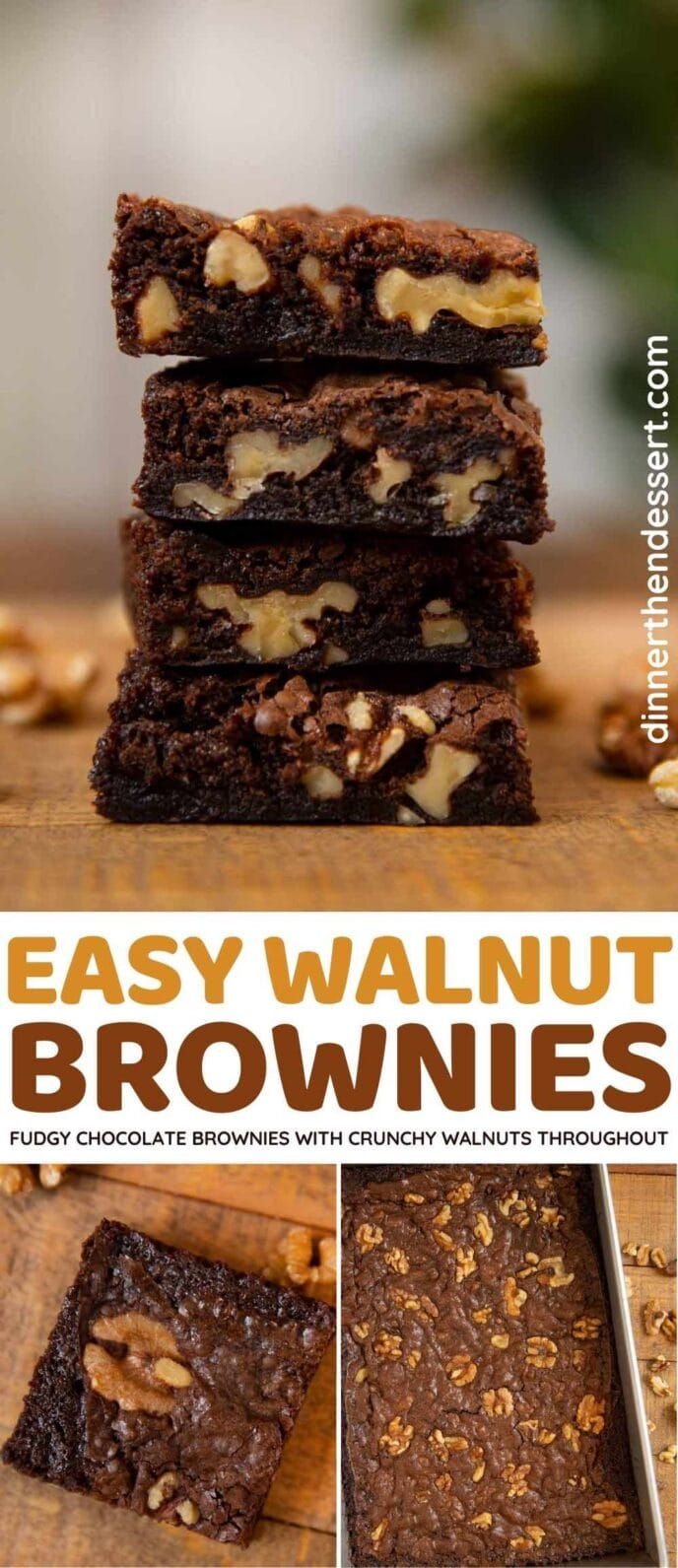 Walnut Brownies collage